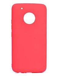 Недорогие -Кейс для Назначение Motorola G5 Plus / G5 Ультратонкий Кейс на заднюю панель Однотонный Мягкий ТПУ для Мото G5 Plus / Moto G5
