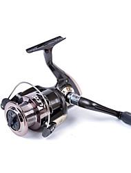 baratos -Molinetes de Pesca Molinetes Rotativos 5.2:1 Relação de Engrenagem+3 Rolamentos Orientação da mão Trocável Pesca de Mar