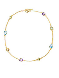 cheap -Women's Peridot / Synthetic Amethyst / Crystal S925 Sterling Silver / 18K Gold Plated Choker Necklace / Chain Necklace - Sweet /