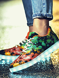 cheap -Men's Cowhide Spring / Fall Comfort Athletic Shoes Walking Shoes Orange / Dark Blue / Pool