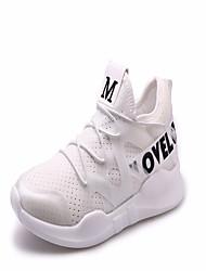 abordables -Mujer Zapatos PU Verano Talón Descubierto Sandalias Paseo Tacón Cuña Punta abierta Cuentas Blanco / Negro / Rosa