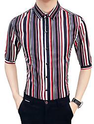billige Herremode og tøj-Herre-Stribet Basale Skjorte