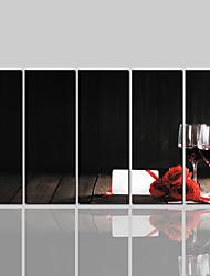Недорогие -рулонный холст отпечаток классический современный, пять панелей холст горизонтальный отпечаток декорация стен домашний декор