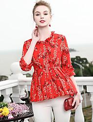 economico -Blusa Per donna Essenziale Con stampe,Fantasia floreale