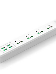 cheap -Smart Power Strip Overload protection 4Outlets 4USB Adjustable CurrentControl Anti-Slip Home Office Safety