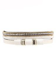 Недорогие -Жен. Кожа Кожаные браслеты - На каждый день Мода нерегулярный Белый Браслеты Назначение Подарок Повседневные