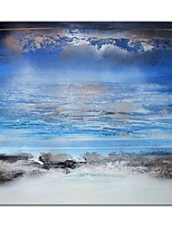 cheap -STYLEDECOR Modern Hand Painted Abstract Blue Sky and White Cloud Canvas Oil Painting Wall Art