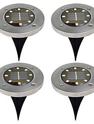 abordables -BRELONG® 4pcs 5W Lumières de pelouse Solaire Imperméable Contrôle de la lumière Eclairage Extérieur Blanc Chaud Blanc 1.5V