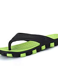 baratos -Homens sapatos Sintético Verão Conforto Chinelos e flip-flops Cinzento / Vermelho / Verde