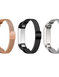 baratos -Pulseiras de Relógio para Fitbit Alta Fitbit Pulseira Estilo Milanês Aço Inoxidável Tira de Pulso