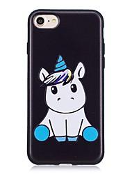 baratos -Capinha Para Apple iPhone X iPhone 8 Estampada Capa traseira Unicórnio Macia TPU para iPhone X iPhone 8 Plus iPhone 8 iPhone 7 Plus
