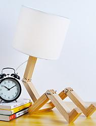 billiga -Artistisk Justerbar Bordslampa Till Trä / Bambu Vit