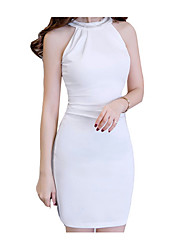cheap -Women's Sophisticated Sheath Dress - Solid Colored