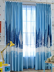 cheap -Curtains Drapes Living Room Contemporary Cartoon Cotton / Polyester Printed