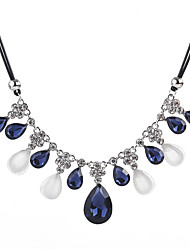 cheap -Women's Cubic Zirconia / Synthetic Opal Statement Necklace  -  Zircon, Opal Drop Fashion Blue 50+5.5 cm Necklace For Formal, Going out