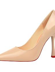 abordables -Femme Chaussures Polyuréthane Eté Automne Escarpin Basique Confort Chaussures à Talons Talon Bobine Bout fermé Bout pointu pour Bureau et