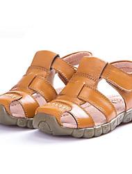 preiswerte -Jungen / Mädchen Schuhe Leder Sommer Komfort Sandalen für Weiß / Schwarz / Gelb