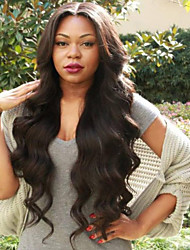 cheap -Virgin Human Hair Full Lace Wig Indian Hair / Body Wave Wavy Layered Haircut 130% Density With Baby Hair / Natural Hairline Black Women's Short / Long / Mid Length Human Hair Lace Wig