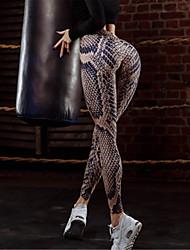 cheap -Women's Daily Sporty Legging - Leopard High Waist