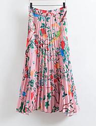 preiswerte -Damen Street Schick Schaukel Röcke - Blumen