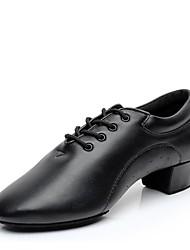 Недорогие -Муж. Современный Дерматин На каблуках В помещении Профессиональный стиль На низком каблуке Черный 1 - 1 3/4inch Персонализируемая