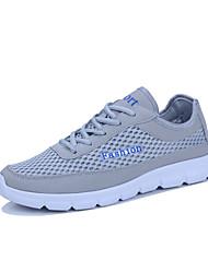 preiswerte -Damen Schuhe PU Frühling Herbst Komfort Sportschuhe für Draussen Schwarz Dunkelblau Grau