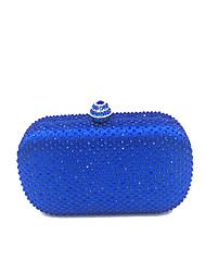 Недорогие -Жен. Мешки ПВХ Вечерняя сумочка Кристаллы Синий