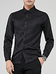 cheap -Men's Business Shirt - Solid Colored
