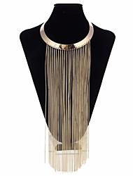 abordables -Collier court / Ras-du-cou / Colliers Déclaration - Steampunk Or 40 cm Colliers Tendance Pour Soirée, Bar