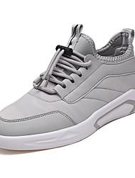 billige -Herre Sko Stof Forår Efterår Komfort Sneakers for Afslappet Hvid Sort Grå