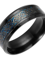 cheap -Men's Band Ring / Statement Ring - Dragon European 6 / 7 / 8 Gold / Black / Blue For Daily