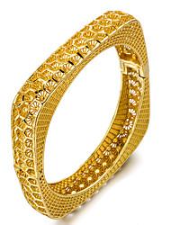 Недорогие -Браслет цельное кольцо / Браслет разомкнутое кольцо - Мода Браслеты Золотой Назначение Для вечеринок / Подарок