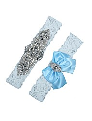 cheap -Lace Wedding Wedding Garter 617 Rhinestone Satin Bow Garters Balloon Unique Wedding Décor Wedding Wedding Party