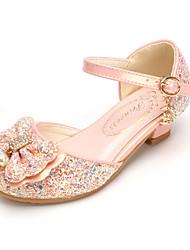 abordables -Fille Chaussures Polyuréthane Printemps Automne Chaussures de Demoiselle d'Honneur Fille Confort Chaussures à Talons Noeud Perle Boucle