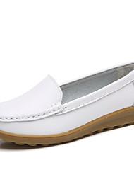Недорогие -Жен. Обувь Тюль / Кожа Лето / Осень Удобная обувь На плокой подошве На плоской подошве Белый / Черный / Красный