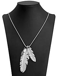 Недорогие -Ожерелья с подвесками В форме листа Милая Мода Белый 89 cm Ожерелье Бижутерия Назначение Повседневные Для вечеринок