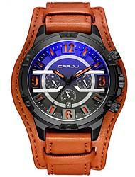 abordables -Hombre Reloj Militar Japonés Cronógrafo / Resistente al Agua / Creativo PU Banda Moda Negro / Azul / Rojo / Acero Inoxidable / Dos año / Sony 377
