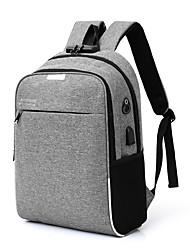 Недорогие -Муж. Мешки холст рюкзак Молнии Синий / Черный / Серый