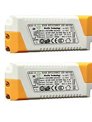 abordables -2pcs 100-240V Accessoire d'ampoule Alimentation Plastique pour le projecteur de lumière d'inondation de LED DIY 20W