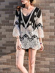 preiswerte -Damen Solide Baumwolle Bluse Gefaltet Puff Ärmel