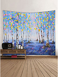 Недорогие -Сад Пейзаж Декор стены 100% полиэстер Современный Modern Предметы искусства, Стена Гобелены Украшение