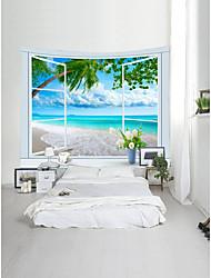 Недорогие -Пляж Пейзаж Декор стены 100% полиэстер Классика Modern Предметы искусства, Стена Гобелены Украшение