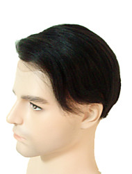 cheap -Men's Remy Human Hair Toupees Full Lace 100% Hand Tied