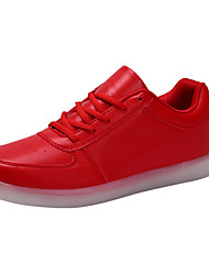 cheap -Men's PU(Polyurethane) Spring / Fall Comfort Sneakers White / Black / Red
