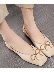 baratos -Mulheres Sapatos Couro Ecológico Primavera Outono Bailarina Conforto Rasos Salto Baixo para Casual Bege Azul Khaki