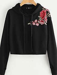 cheap -Women's Street chic Hoodie - Floral
