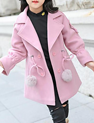 cheap -Girls' Solid Jacket & Coat Red Blushing Pink