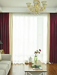 povoljno -Zavjese Zavjese Living Room Jednobojni Pamuk / poliester Yarn Dyed