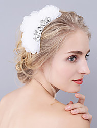 cheap -Rhinestone Organza Hair Combs with Rhinestone Floral 1pc Wedding Party / Evening Headpiece