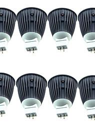 baratos -8pçs 4.5W 600lm MR16 Lâmpadas de Foco de LED 1 Contas LED COB Branco Quente 12V